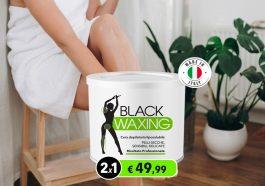 black waxing cera depilatoria